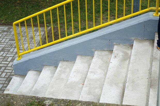 Schody przy Cichej w Bolesławcu wyremontowane