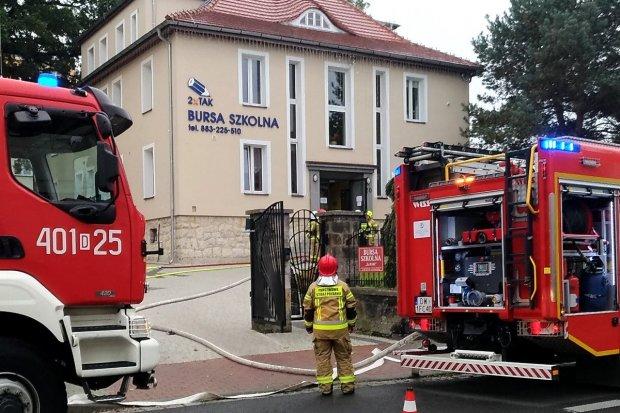 Pożar w bursie szkolnej przy Karola Miarki