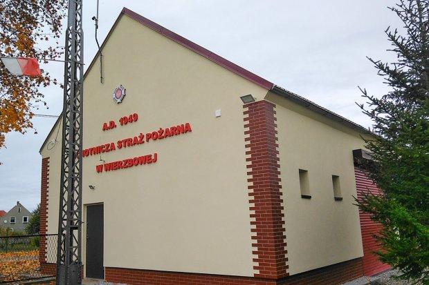 Remiza strażaków z Wierzbowej odnowiona