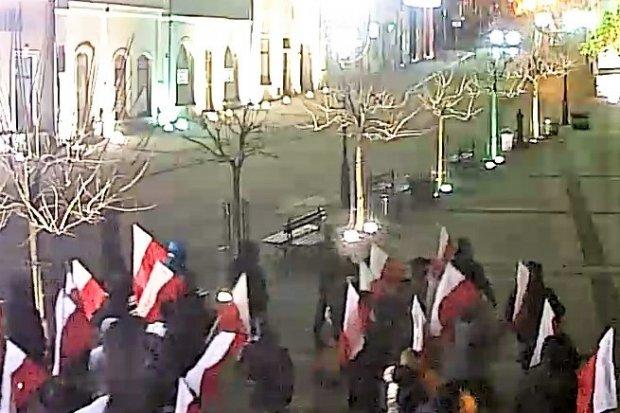 Manifestacja na Święto Niepodległości w Bolesławcu