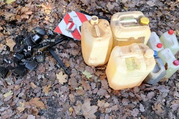 Ukradł paliwo, halogeny, kamerę i lampy z leśnej maszyny