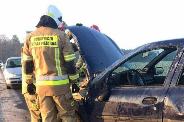Wypadek na drodze między Ocicami a Gościszowem