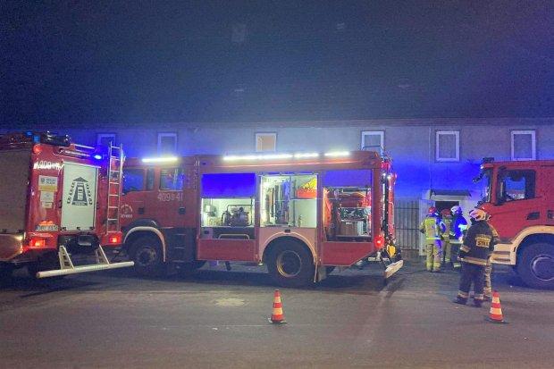 Wieczorny pożar w Osłej