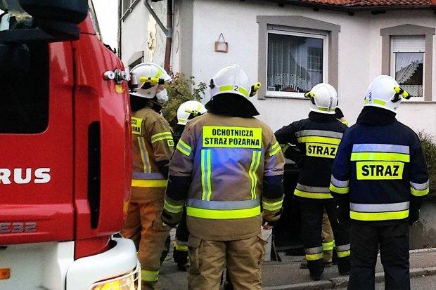 Pożar w budynku na Osiedlu Kwiatowym w Bolesławcu