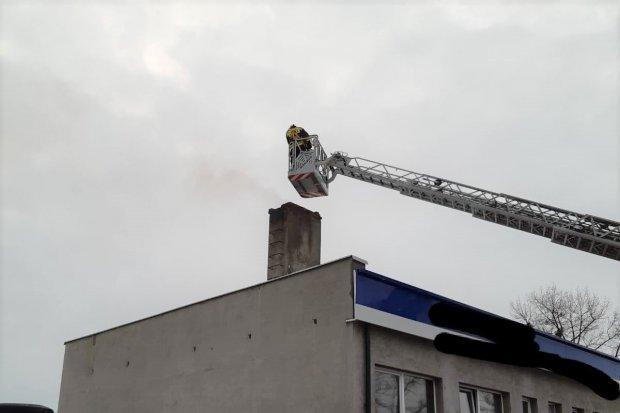 Pożar na strefie w Osłej