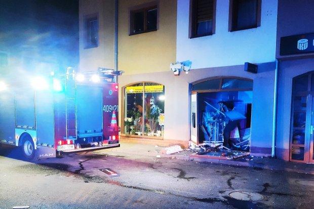 Wysadzono bankomat w budynku w centrum miasta