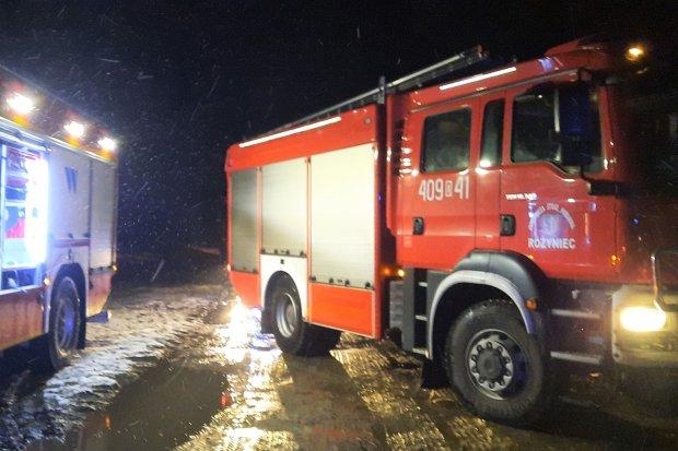 Nocna akcja straży pożarnej w Chościszowicach