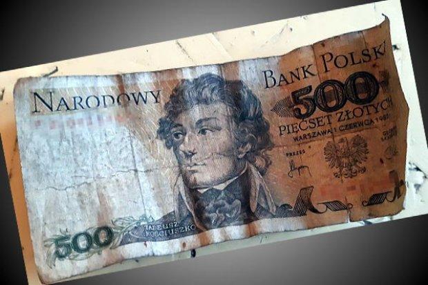 Włamywacz wpadł, bo chciał zapłacić banknotem 500-zł z… 1982 roku