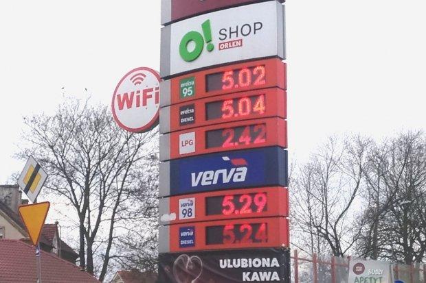 Ceny paliw w Bolesławcu przekroczyły 5 zł za litr
