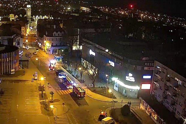 Akcja straży pożarnej w galerii Bolesławiec City Center