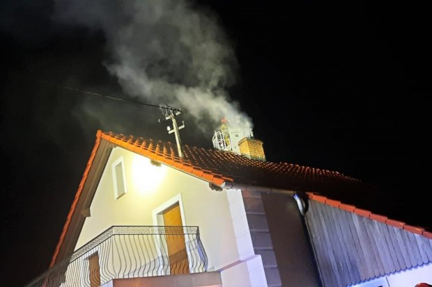 Wieczorna interwencja czterech zastępów straży pożarnej w Gromadce