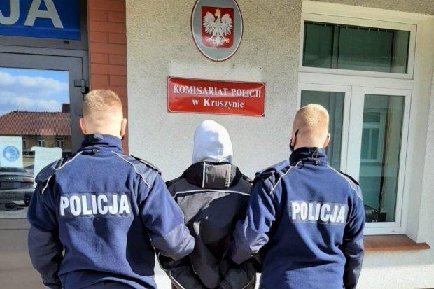 Wandal recydywista w rękach policji