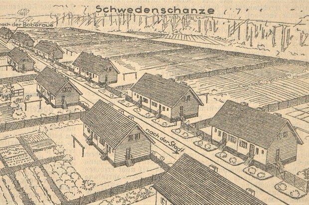 Bolesławieckie osiedle robotnicze przy ulicy Staszica sprzed prawie stu lat