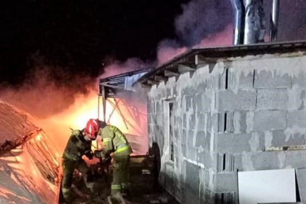 Duży pożar przy Kościuszki. Sprawę bada policja