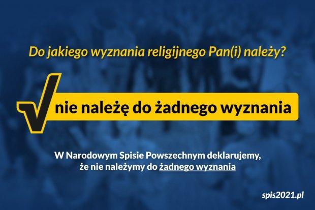 """Rusza kampania """"nie należę do żadnego wyznania"""""""