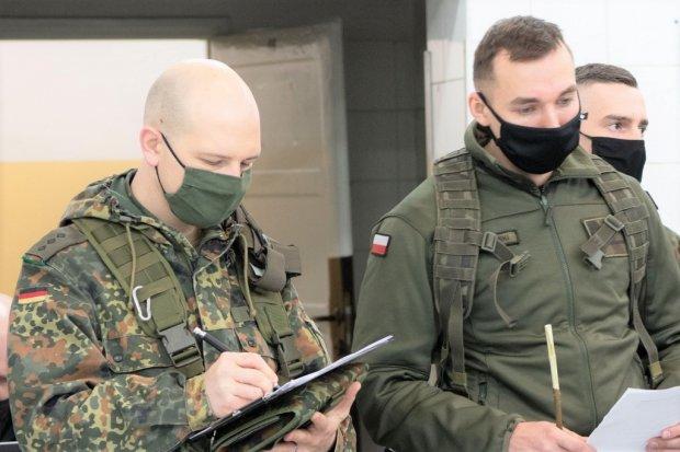 10 Brygada Kawalerii Pancernej: ćwiczenia z pancerniakami z Niemiec