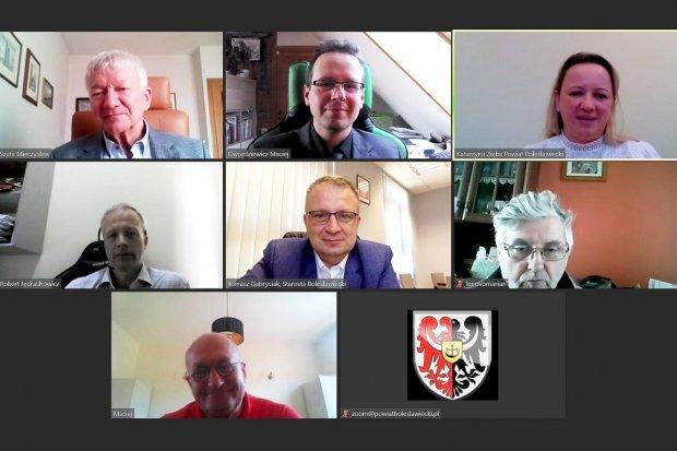 Starosta bolesławiecki spotkał się z przedstawicielami Politechniki Wrocławskiej