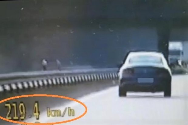 Zasuwał autostradą prawie 220 km/h. Spieszyło mu się do... domu