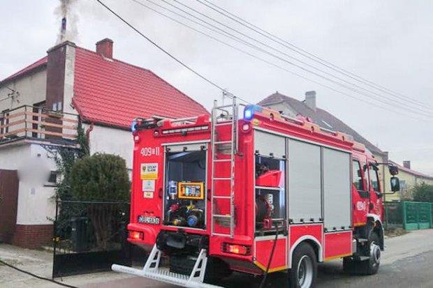 Wieczorna akcja straży pożarnej w Gromadce