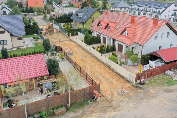 Budują drogę przy Grabowej w Bolesławcu