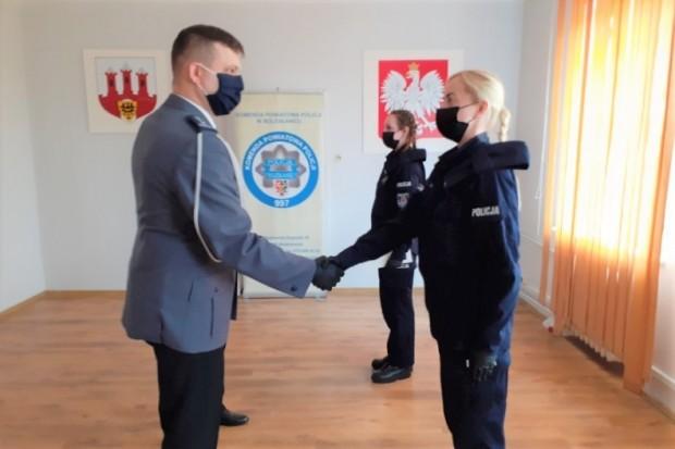 Dwie nowe policjantki w Komendzie Powiatowej Policji w Bolesławcu