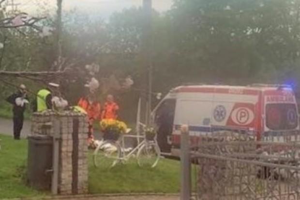 Motorowerzysta uderzył w betonowy słup, zginął na miejscu