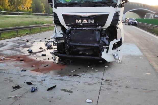 Wypadek na A4, 55-letni Słowak ranny. Autostrada odblokowana