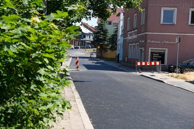 Dobiegają końca prace remontowe przy ulicy Górne Młyny w Bolesławcu