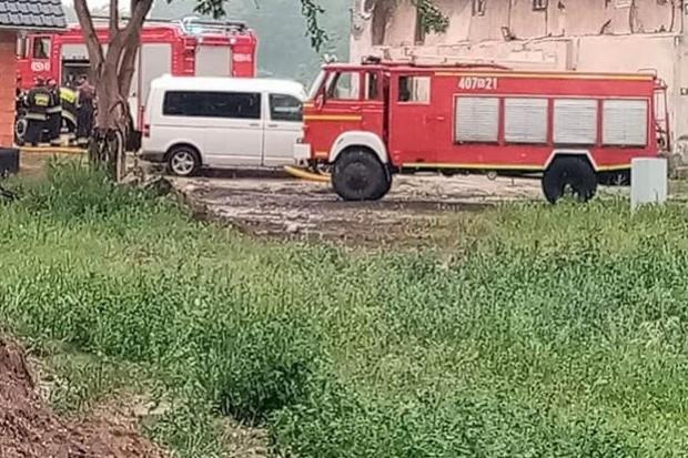 Akcja straży w Krzyżowej