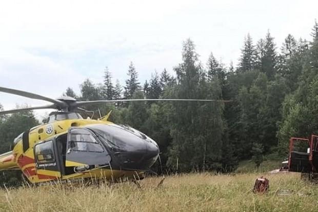 Wypadek w Górach Sokolich: 35-latek spadł z dużej wysokości. Lądował śmigłowiec LPR-u