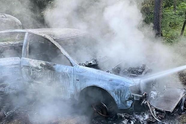 Kolejny samochód spłonął w lesie