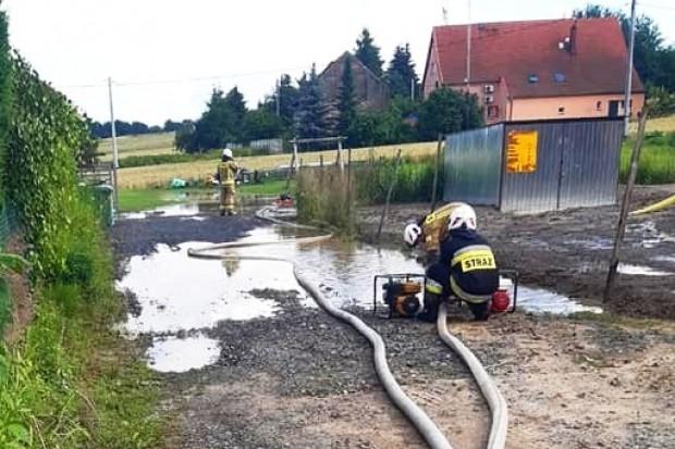 Nawałnice nad powiatem bolesławieckim – wiele interwencji straży pożarnej