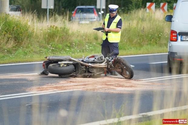 Kolejna śmierć na dolnośląskich drogach. Motocyklista zmarł po zderzeniu z autem