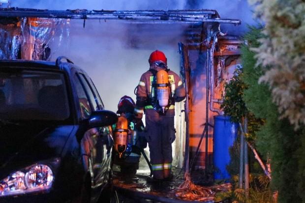Pożar garażu przy ulicy Gdańskiej