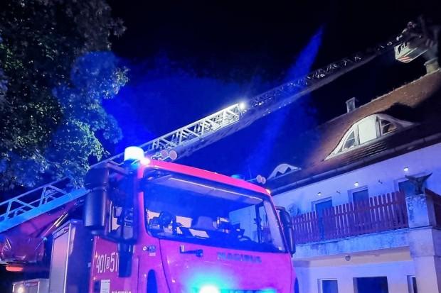 Wieczorny pożar w Parowej