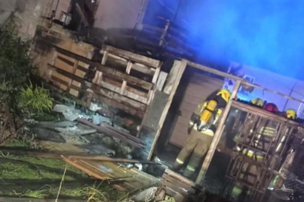 Nocna akcja straży pożarnej w Iwinach