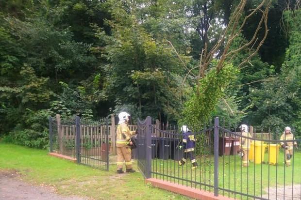 Akcja straży pożarnej w Modle