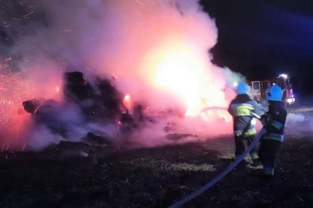 Nocny pożar w Gierałtowie. Na miejscu aż 5 jednostek straży. WIDEO