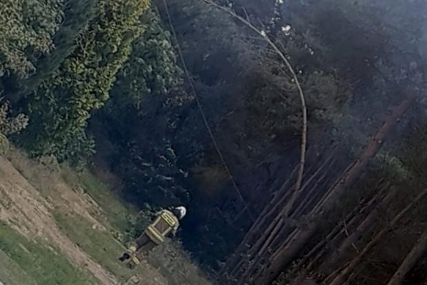 Akcja straży pożarnej w miejscowości Szczytnica