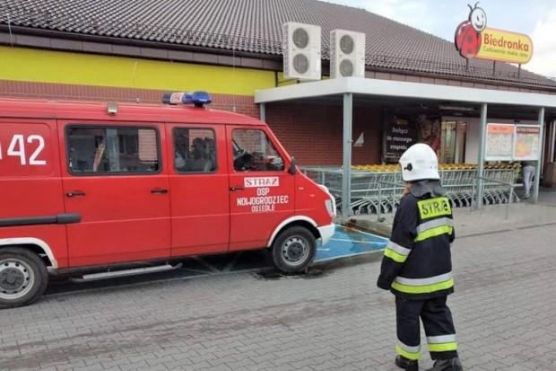Zadymienie w Biedronce w Nowogrodźcu. Interweniowała straż pożarna