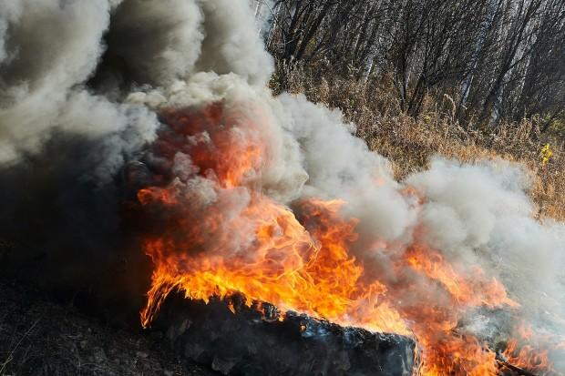 Poranny pożar na strefie