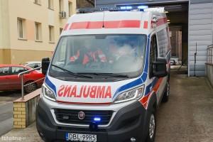 Wypadek w Starej Olesznej. Jedna osoba ranna