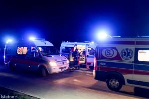Wypadek pod Bolesławcem, 7 osób rannych
