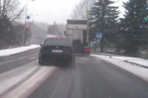 Policja komentuje zachowanie kierowcy BMW