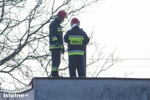 Akcja strażaków w budynku przy Spacerowej