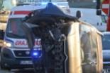 Wypadek na Dolnych Młynach. Dwie osoby ranne