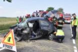Poważny wypadek na drodze Lubin – Ścinawa. Dwie osoby ranne