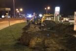 Poważne rozszczelnienie rurociągu gazowego na ulicy Kościuszki