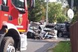Zderzenie trzech samochodów w Gromadce – jedna osoba poszkodowana