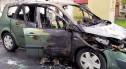 Spłonęło auto, rodzina ledwo uszła z życiem